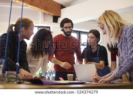 Creative Brainstorming Meeting In Design Office #524374279