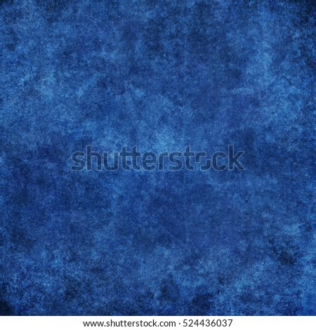 Blue designed grunge texture. Vintage background with space for text or image #524436037