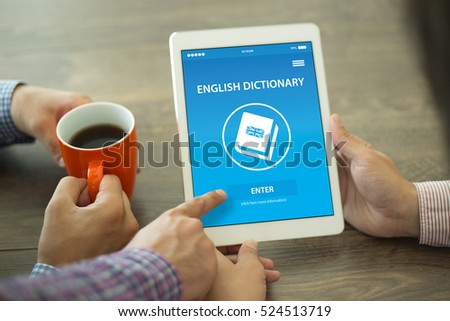 English Dictionary App on Screen #524513719