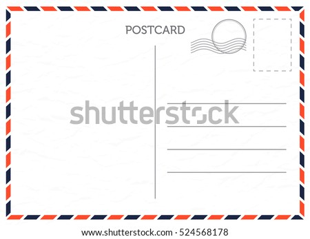 Vector postcard with white paper texture Royalty-Free Stock Photo #524568178