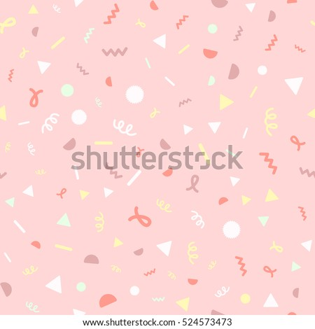 Confetti. Seamless cartoon pattern Royalty-Free Stock Photo #524573473