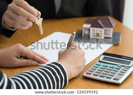 Banks approve loans to buy homes. Real Estate concept Royalty-Free Stock Photo #524599192