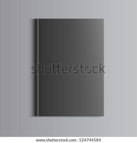 Template for advertising, branding and corporate identity. Catalog, folder,portfolio. Blank mockup for design. Vector black object. EPS 10 #524744584