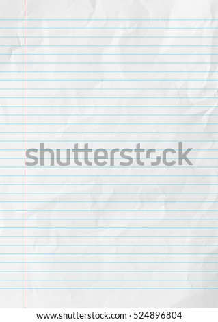 White lines paper school background  Royalty-Free Stock Photo #524896804