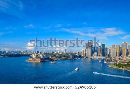 Sydney Harbor from the Bridge #524905105