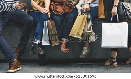 Group Of People Shopping Concept #525001696