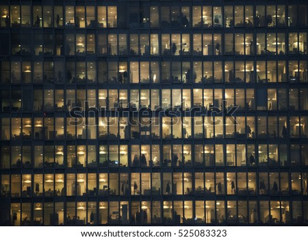 Corporate building with employees #525083323