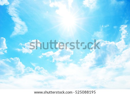 sunny sky background whith  clouds Royalty-Free Stock Photo #525088195
