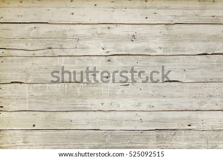 Natural Wood Board Plank Wall Panel Horizontal Shabby Texture. Wooden Color Vintage DIY Background. Reclaim Wood Surface. Hardwood Grey Floor Or Table Or Door Or Celling Structure. Closeup. Copy Space #525092515