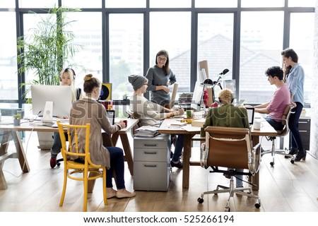 Teamwork Together Professional Occupation Concept #525266194