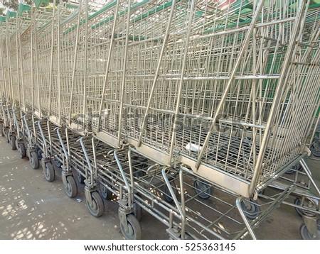 Group of shipping cart at super market #525363145