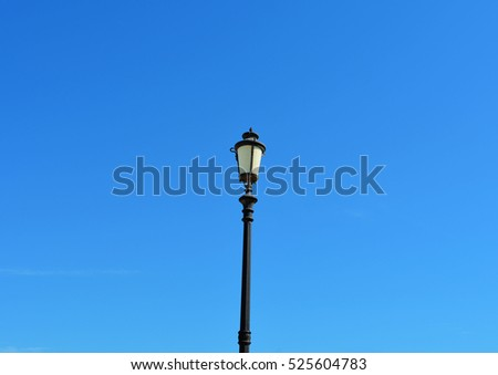 Light Post With Blue Sky Background #525604783