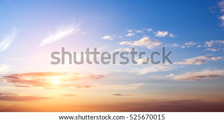 Clear sky and clouds background #525670015