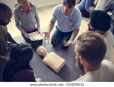 CPR First Aid Training Concept #525830032
