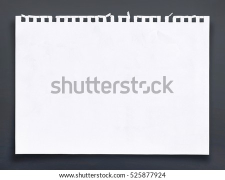 White sheet of paper background. #525877924