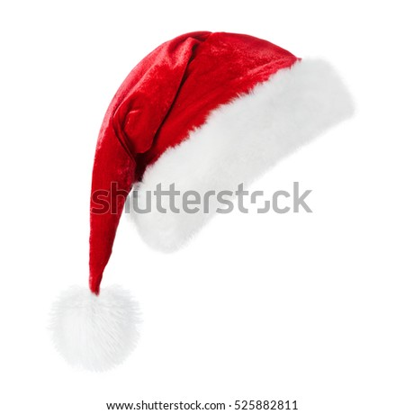 Santa Claus red hat isolated on white background #525882811