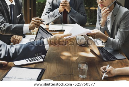 Business Corporate People Working Concept Royalty-Free Stock Photo #525950377