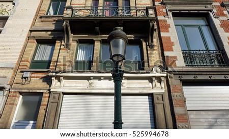 traditional residential buildings in belgium #525994678