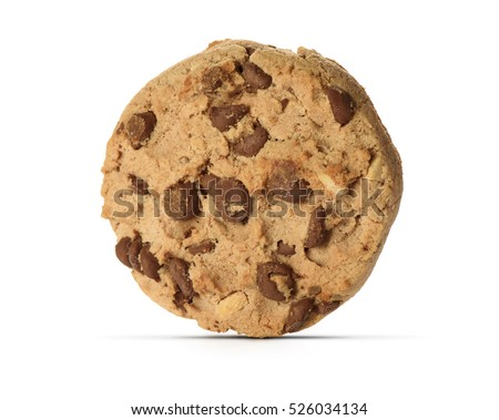 Chocolate Chip Cookie isolated on white background #526034134