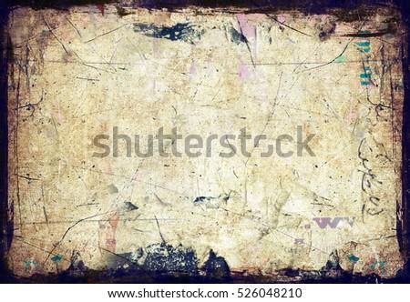 Grunge paper wall texture #526048210