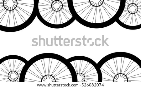 road and mountain bike wheels and tires pattern #526082074