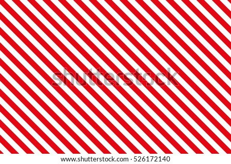 Red stripes on white background. Striped diagonal pattern Vector illustration of Seamless background Christmas or winter theme Background with slanted lines