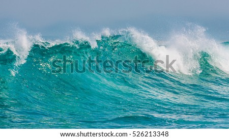 Rolling waves crashing Margaret beach, Western Australia #526213348