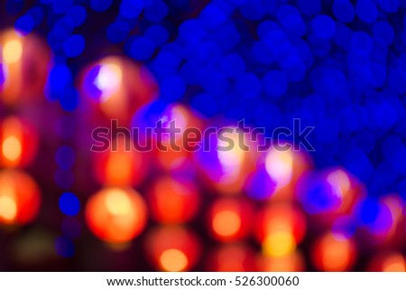 Colorful bokeh background with blue and red bokeh, blurred background, full frame  #526300060