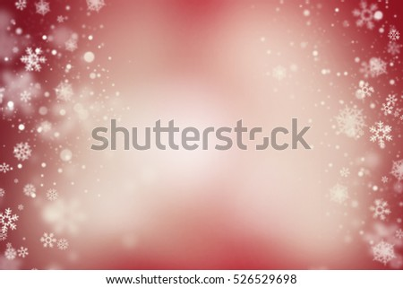 shiny background with snowflakes on both sides