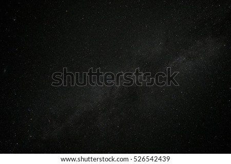 Starry night sky. The Milky Way, our the galaxy.