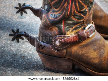 Boots and spurs #526552861