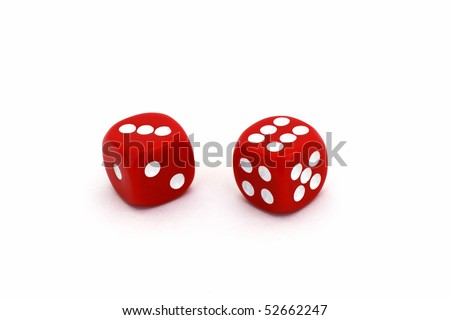 Pair of red dice on white background #52662247