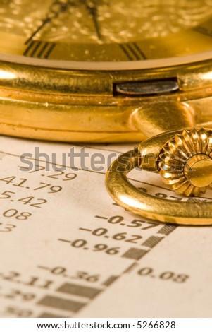 Antique gold pocket watch #5266828