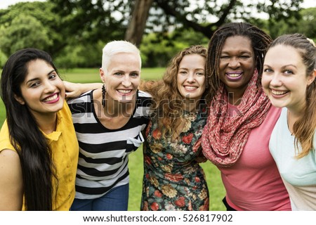 Group of Women Socialize Teamwork Happiness Concept Royalty-Free Stock Photo #526817902