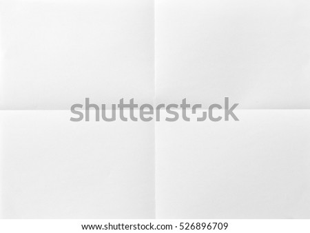 A4 White sheet of paper folded Royalty-Free Stock Photo #526896709