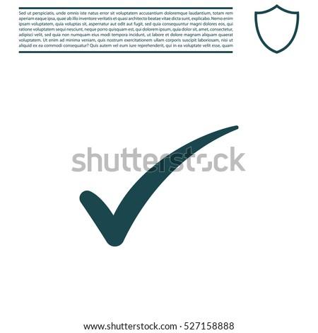 Check mark symbol, vector