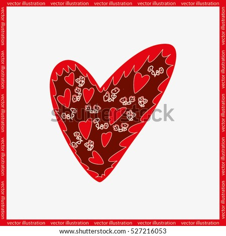Valentine's day background with hearts, vector illustration. #527216053