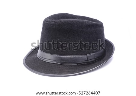 classic black hat isolated on white #527264407