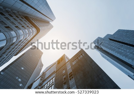 office buildings Skyscrapers Royalty-Free Stock Photo #527339023