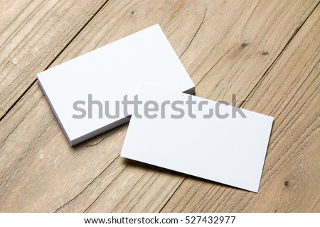 Business card on wood #527432977