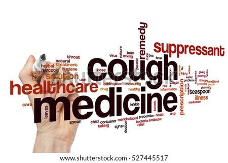 Cough medicine word cloud concept #527445517