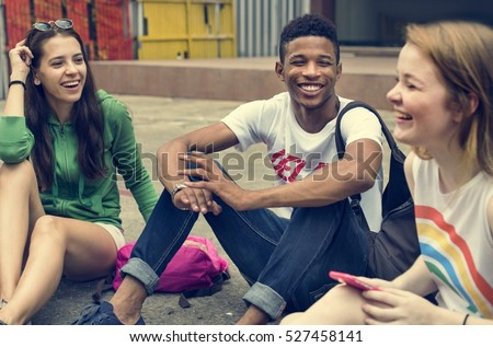 Friends Hipster Teenager Buddies Concept Royalty-Free Stock Photo #527458141