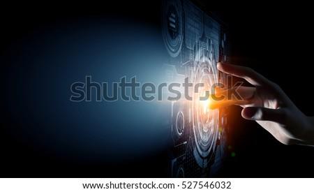 Creating innovative technologies . Mixed media #527546032