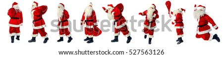 Santa Claus in full growth. Santa Claus isolated on white. Collection. #527563126
