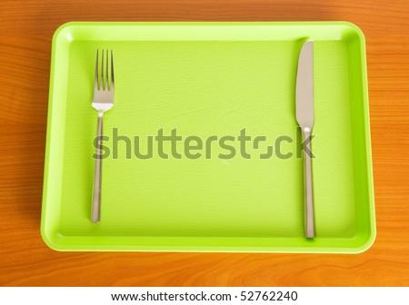 Set of utensils arranged on the table #52762240