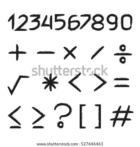 number and math symbols #527646463