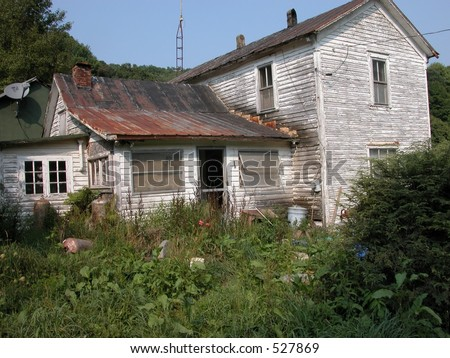 Old house on a country road. #527869