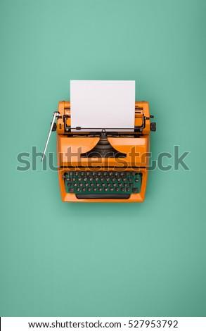 Seventies typewriter #527953792
