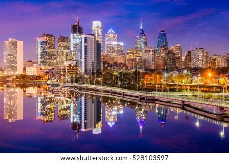 Philadelphia, Pennsylvania, USA Skyline on the Schuylkill River.
