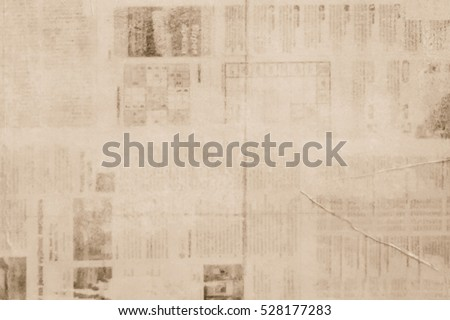 OLD NEWSPAPER BACKGROUND, PAPER TEXTURE, SPACE FOR TEXT Royalty-Free Stock Photo #528177283